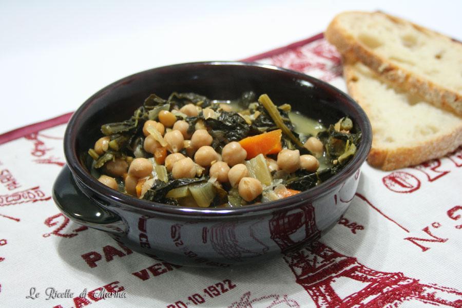 Zuppa di ceci e cavolo nero