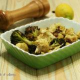 Broccoli e cavolo al forno