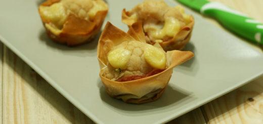 Cestini di pasta fillo con cavolo e formaggio