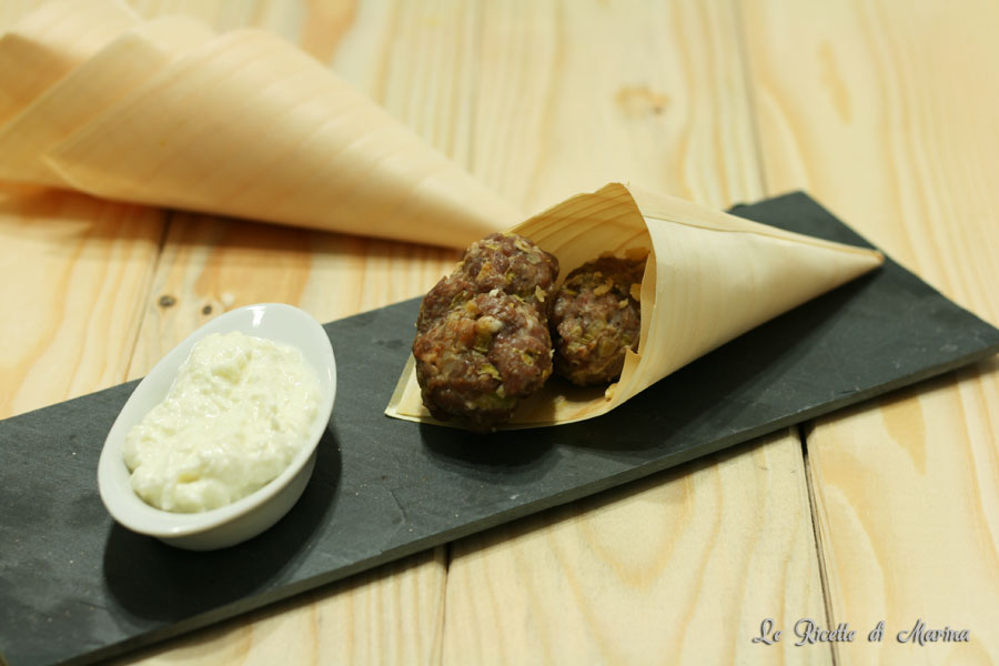 Polpette di carne aromatizzata