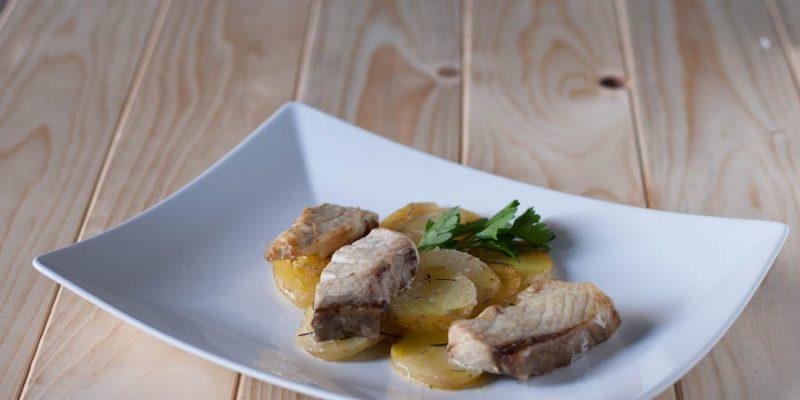 Ricciola al forno con patate