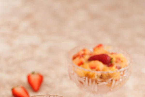 Zuppa inglese con le fragole