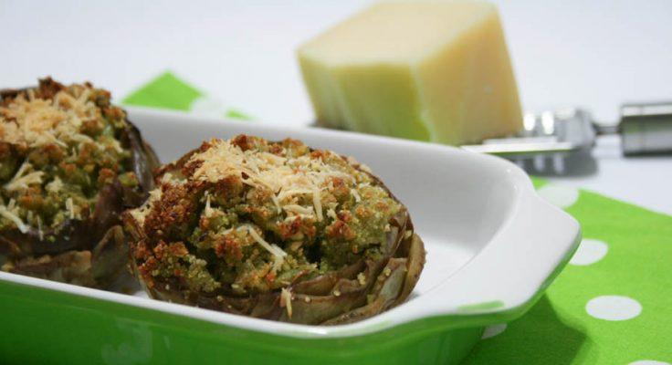 Carciofi ripieni di patate, pancetta e pecorino