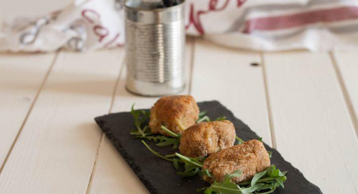Crocchette di patate con salsiccia e piselli