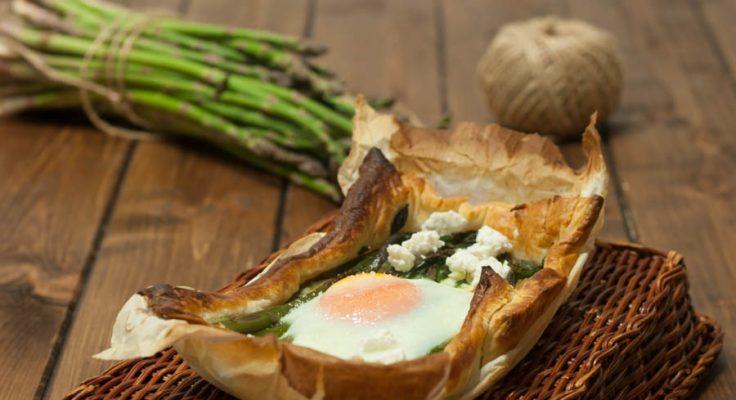 Sfoglia con asparagi e uova