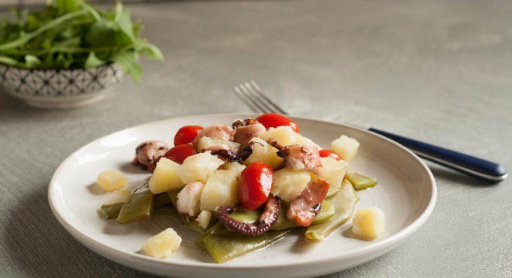 Insalata di polpo taccole e patate