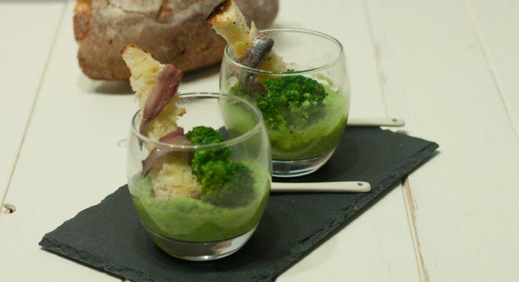 Crema di broccoli e acciughe