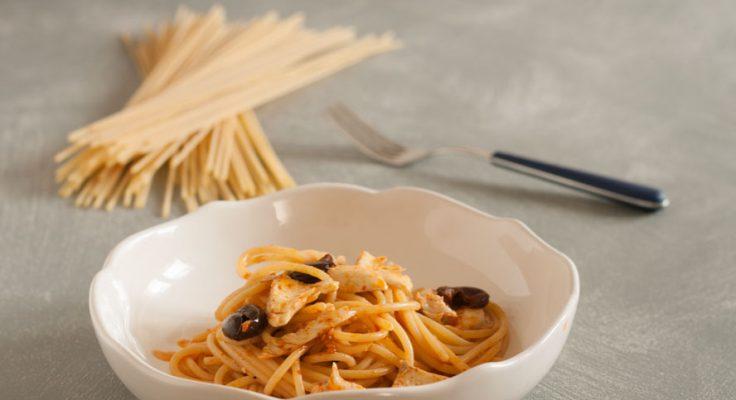 Spaghetti scorfano e olive