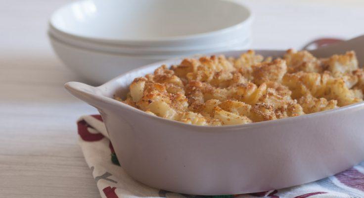 Pasta e cavolo gratinata al forno