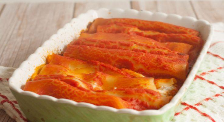 Cannelloni veloci al forno