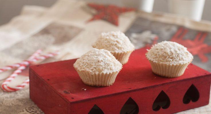 Palle di neve, muffin al cocco