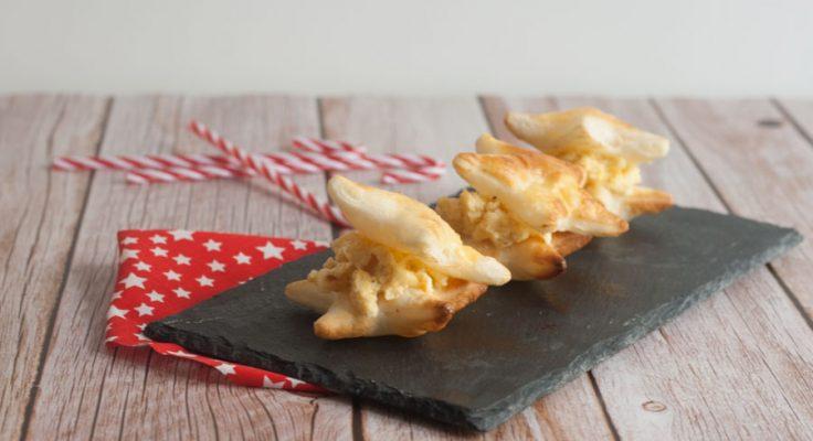 Stelle di sfoglia con uovo tartufato