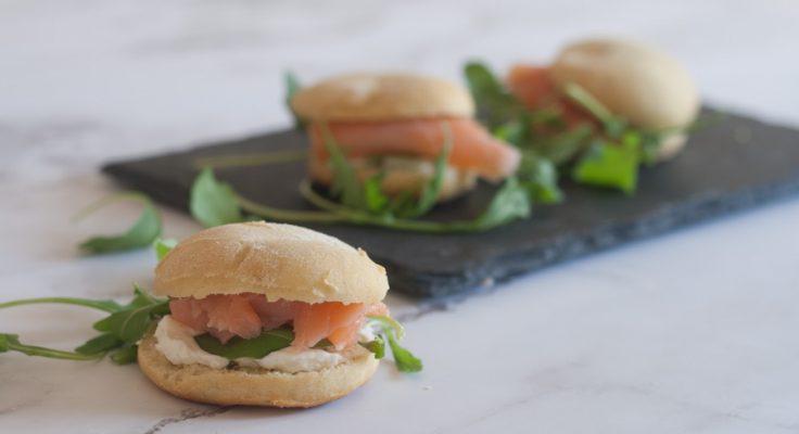 Scones con salmone e formaggio