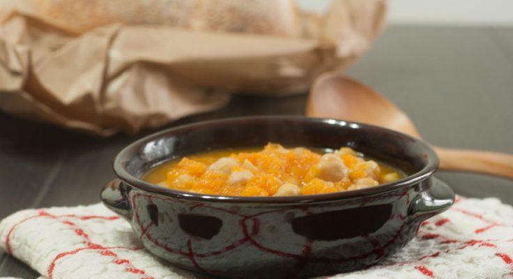 Zuppa di ceci e zucca