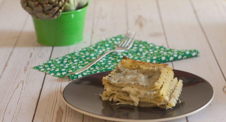 Lasagna con carciofi e gorgonzola