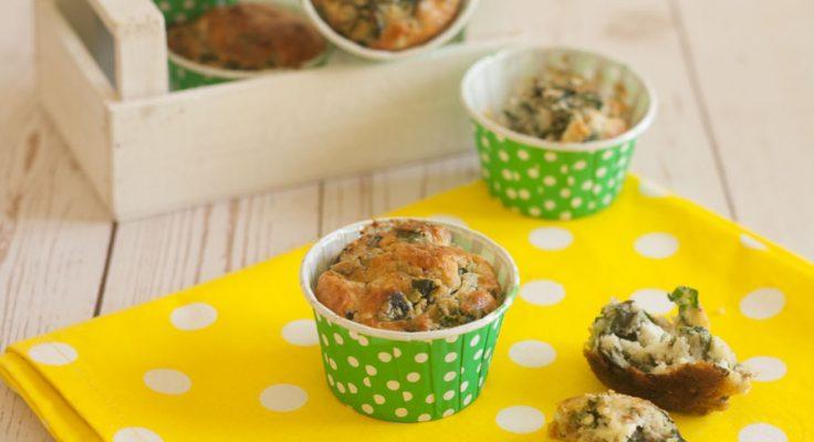 Muffin salati con bietole e feta
